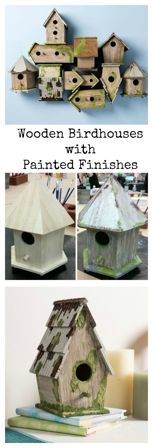 Decorative Wooden Birdhouses With Folkart Painted Finishes Amy