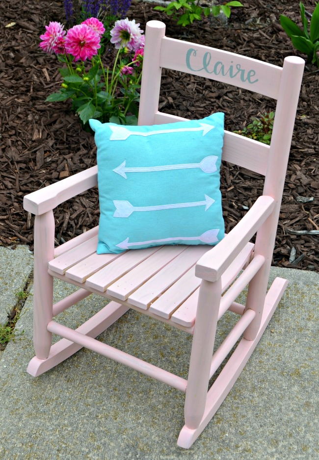Painted Rocking Chair for Kids
