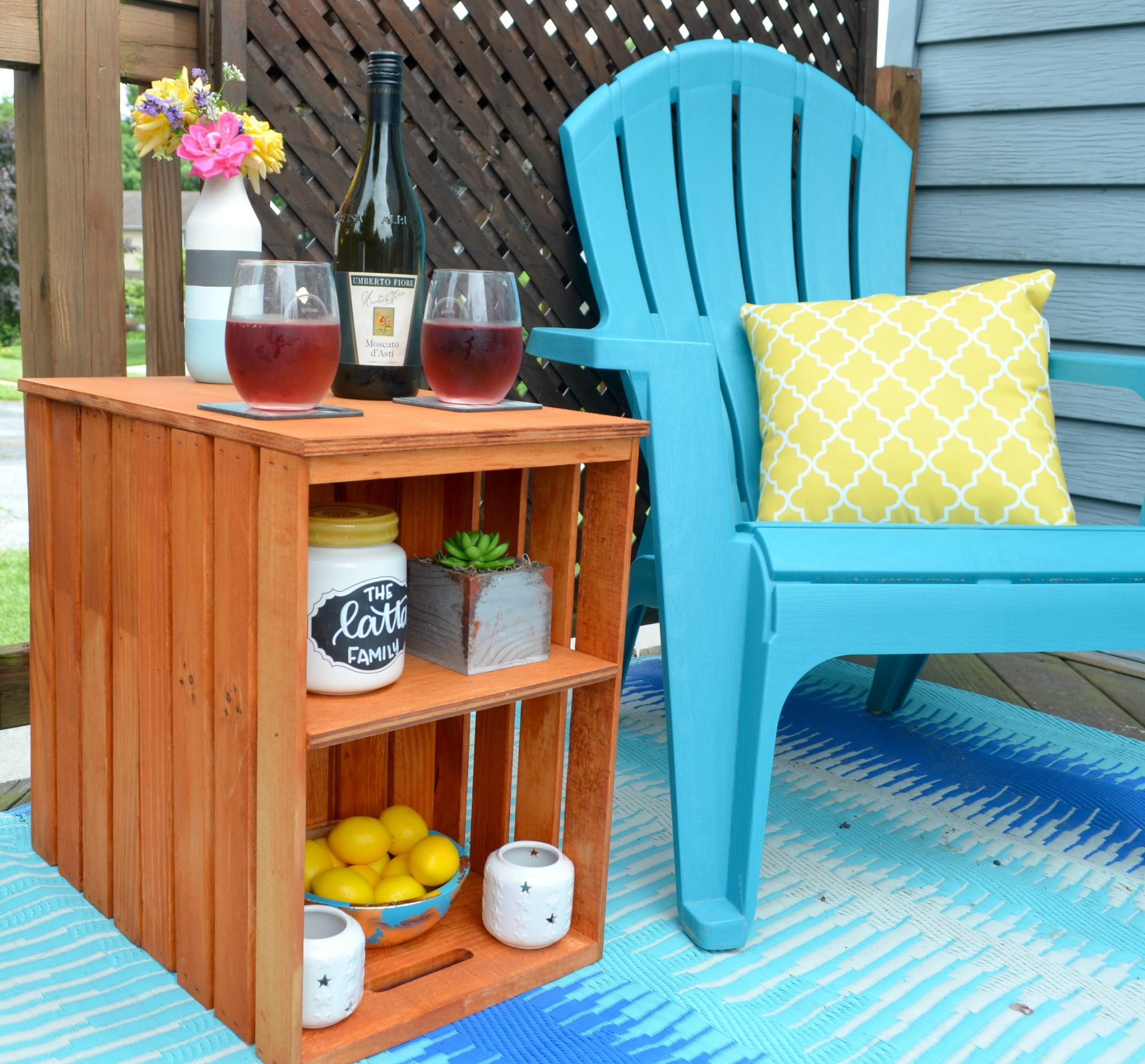 Magnificent Diy Wooden Crate Outdoor Table Amy Latta Creations Download Free Architecture Designs Rallybritishbridgeorg