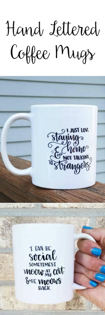 Hand Lettered Mugs