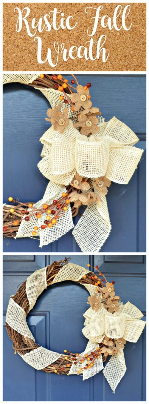 Rustic Fall Wreath DIY