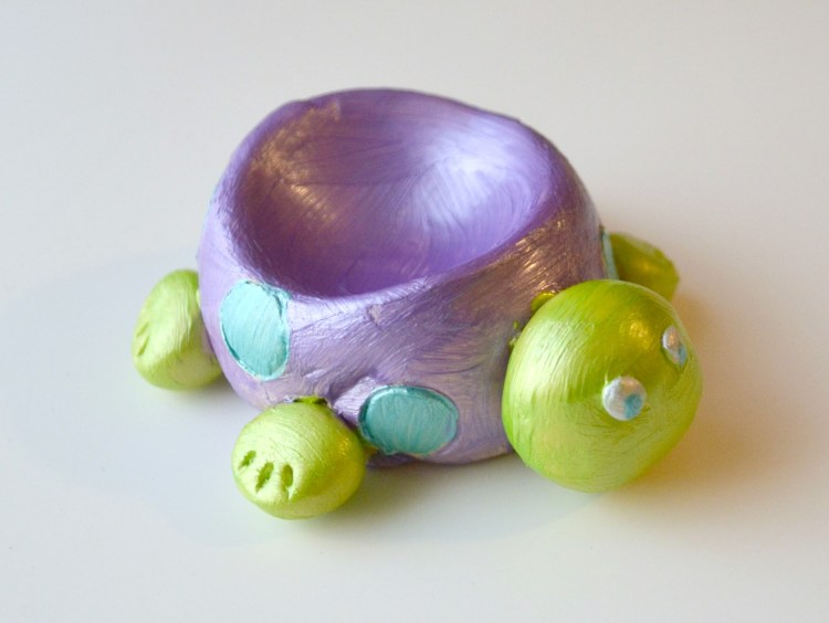 Clay Turtle DIsh