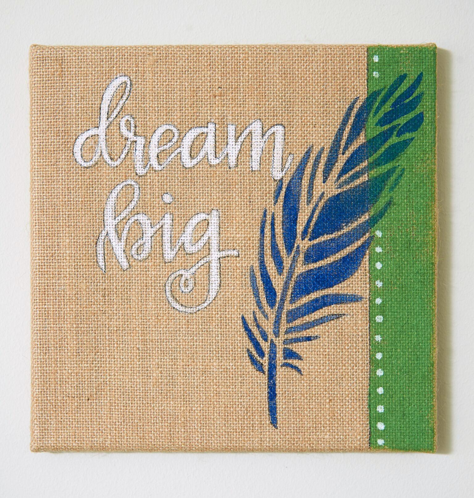 Dream Big Stenciled Canvas