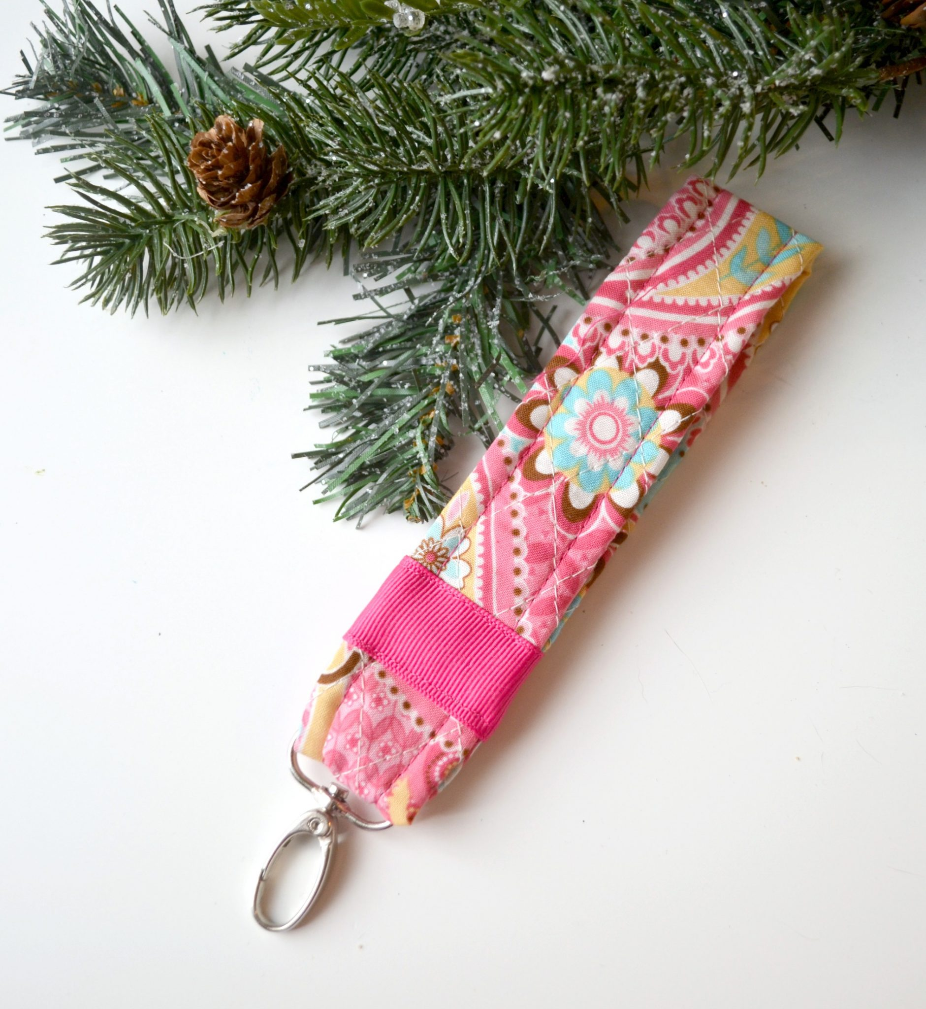 Quilted DIY Key Fob