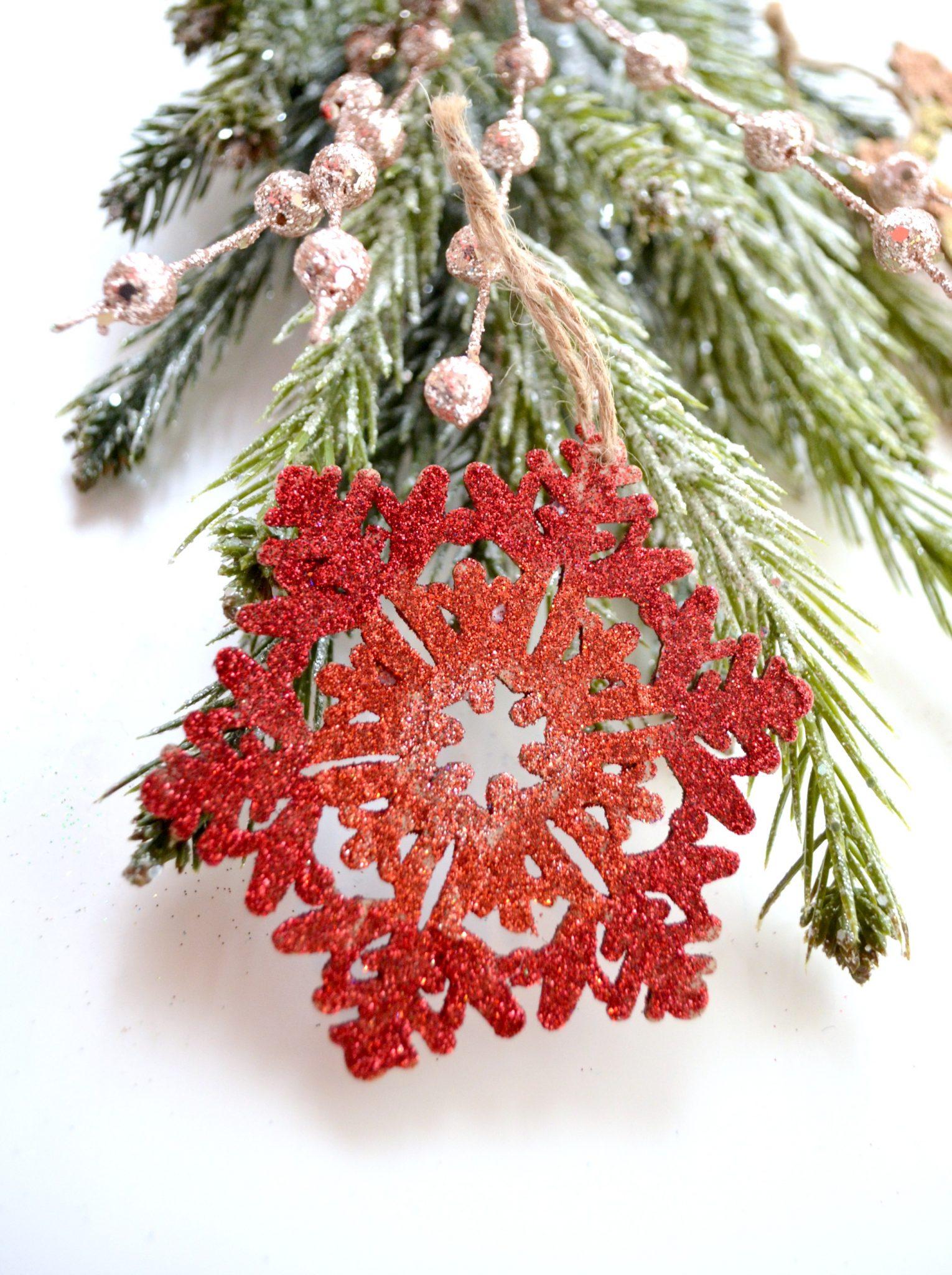 Glittered Snowflake Ornaments