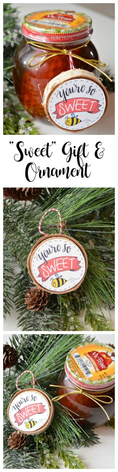 Honey and Ornament Gift DIY