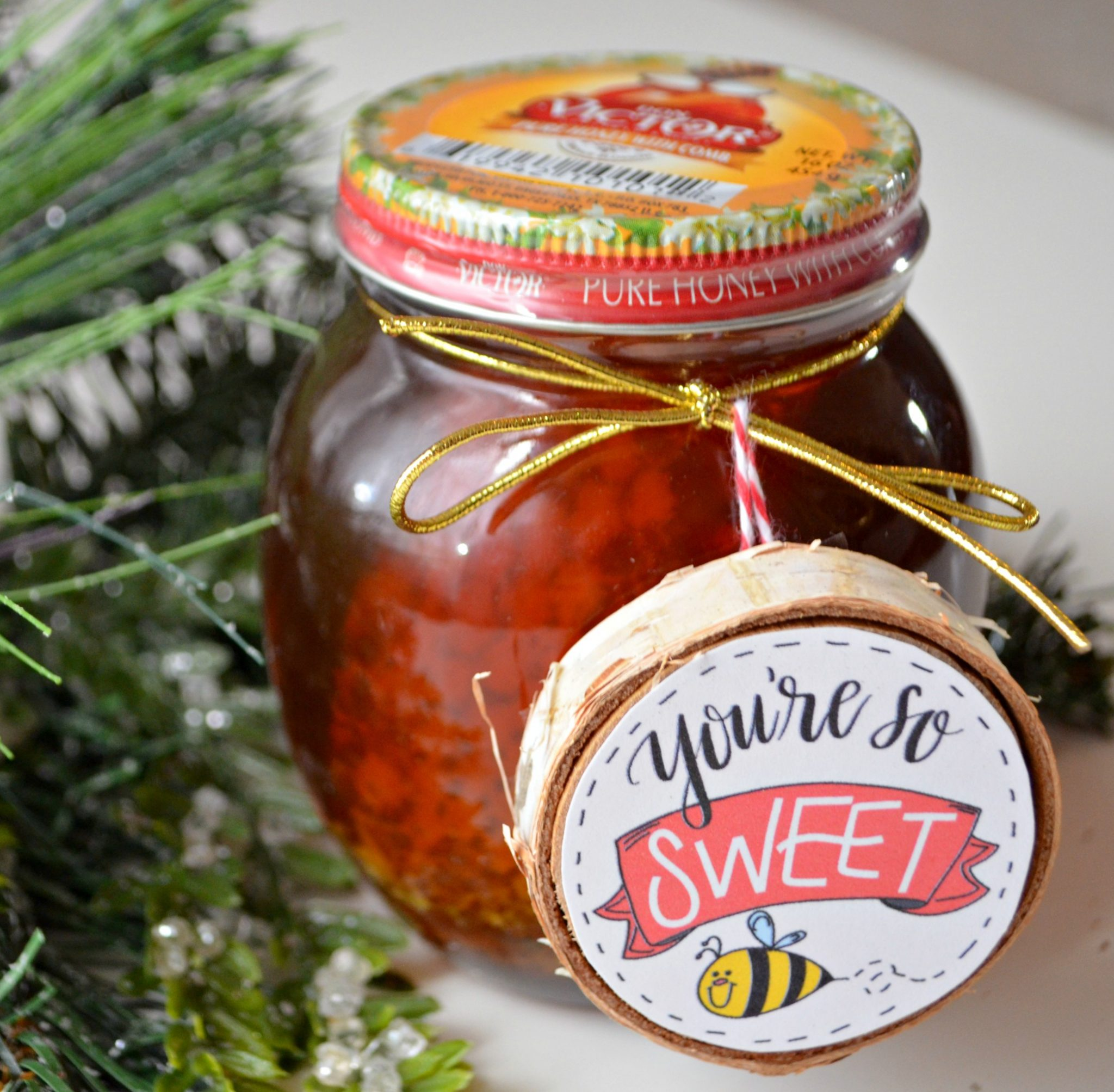 DIY Ornament and Honey Gift