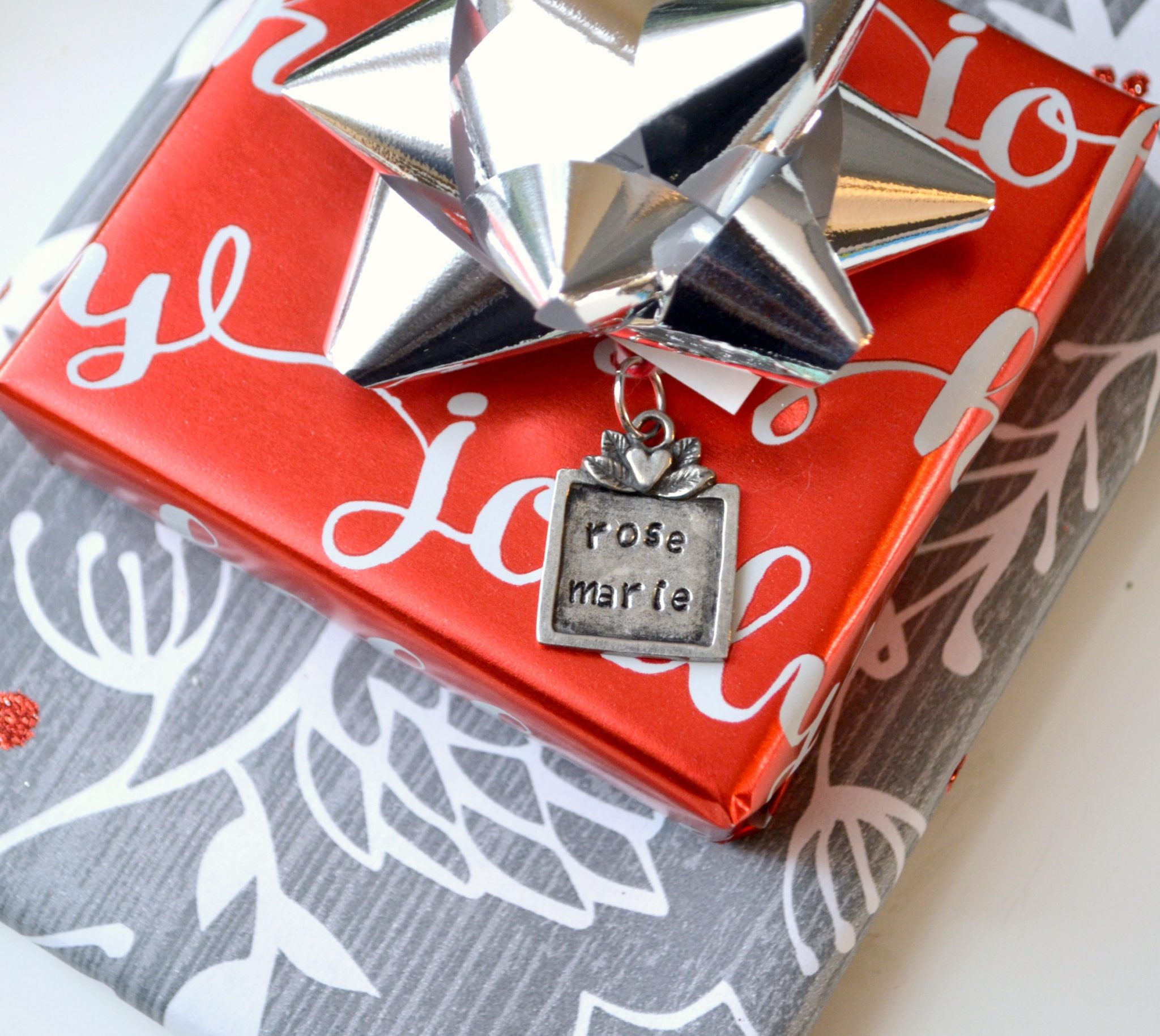 Stamped Gift Tag Ornament