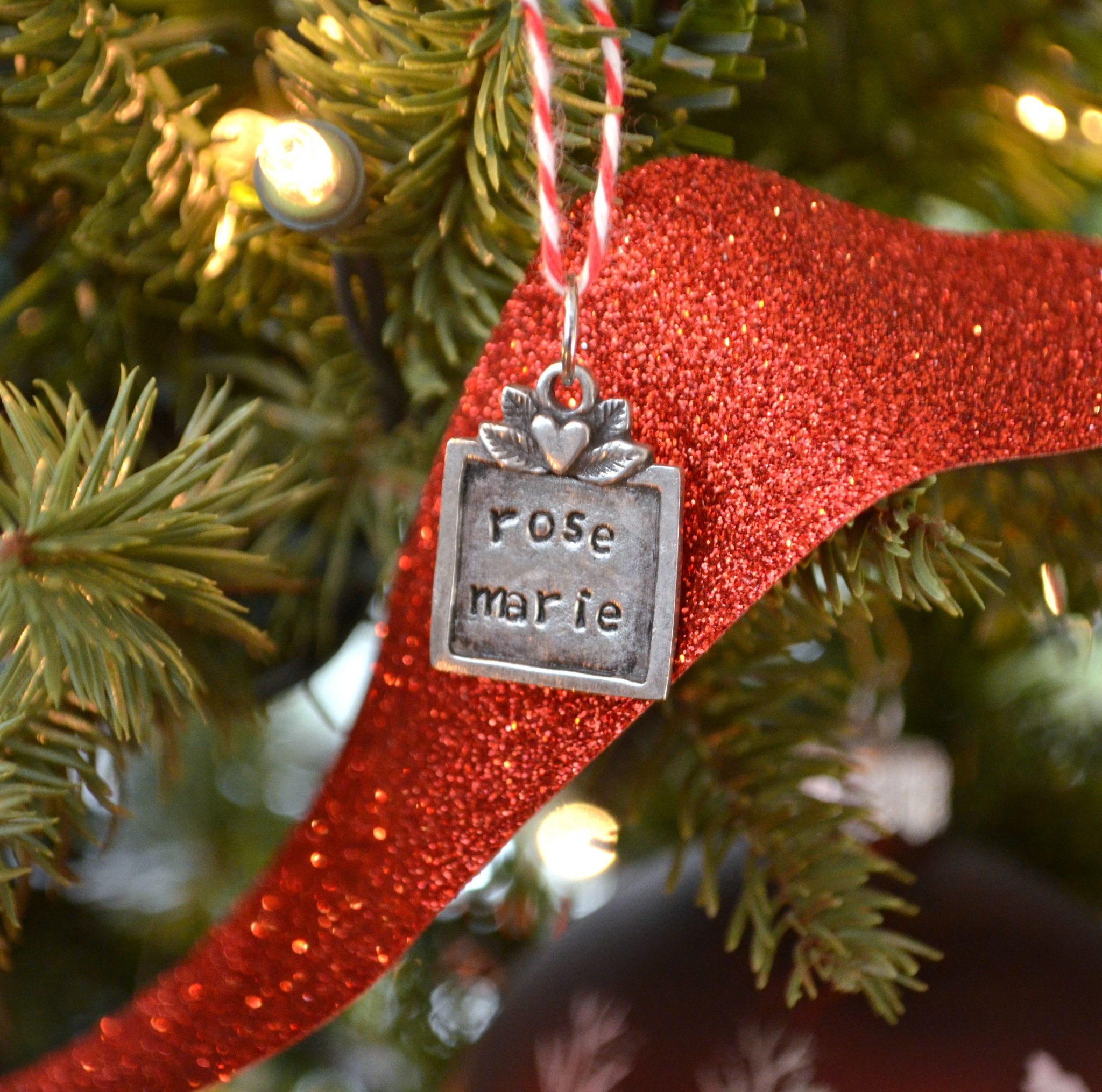 Gift Tag Ornament - Metal Stamped