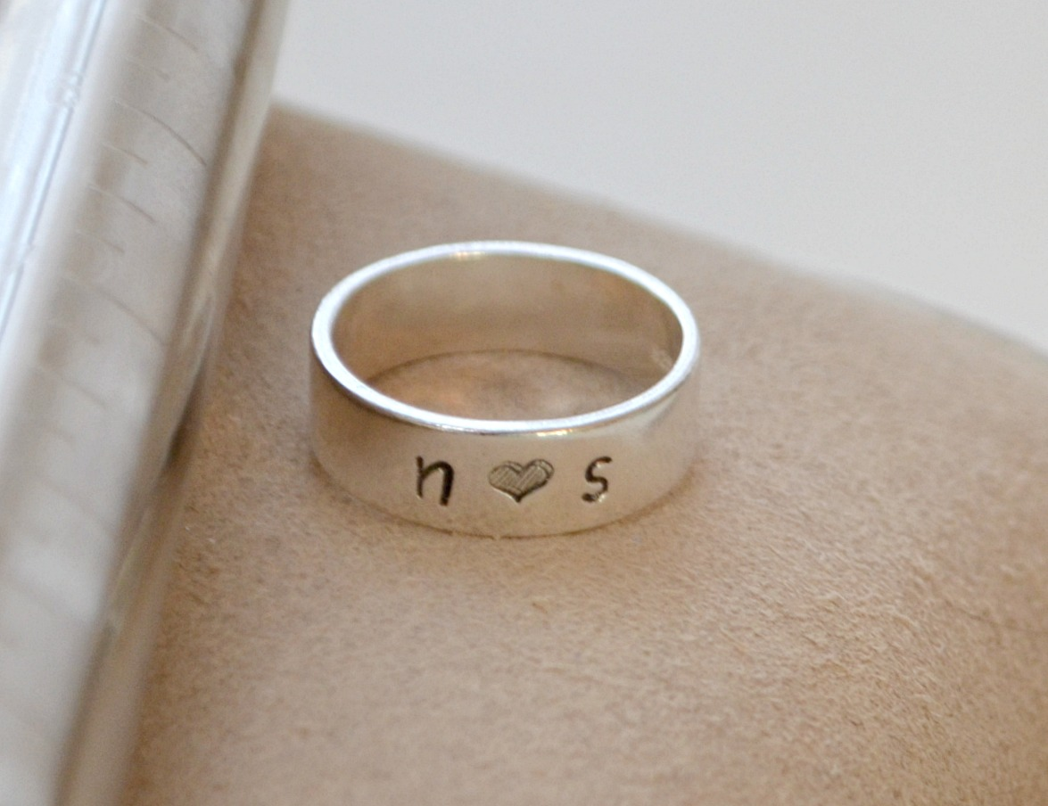 Metal Stamped Rings