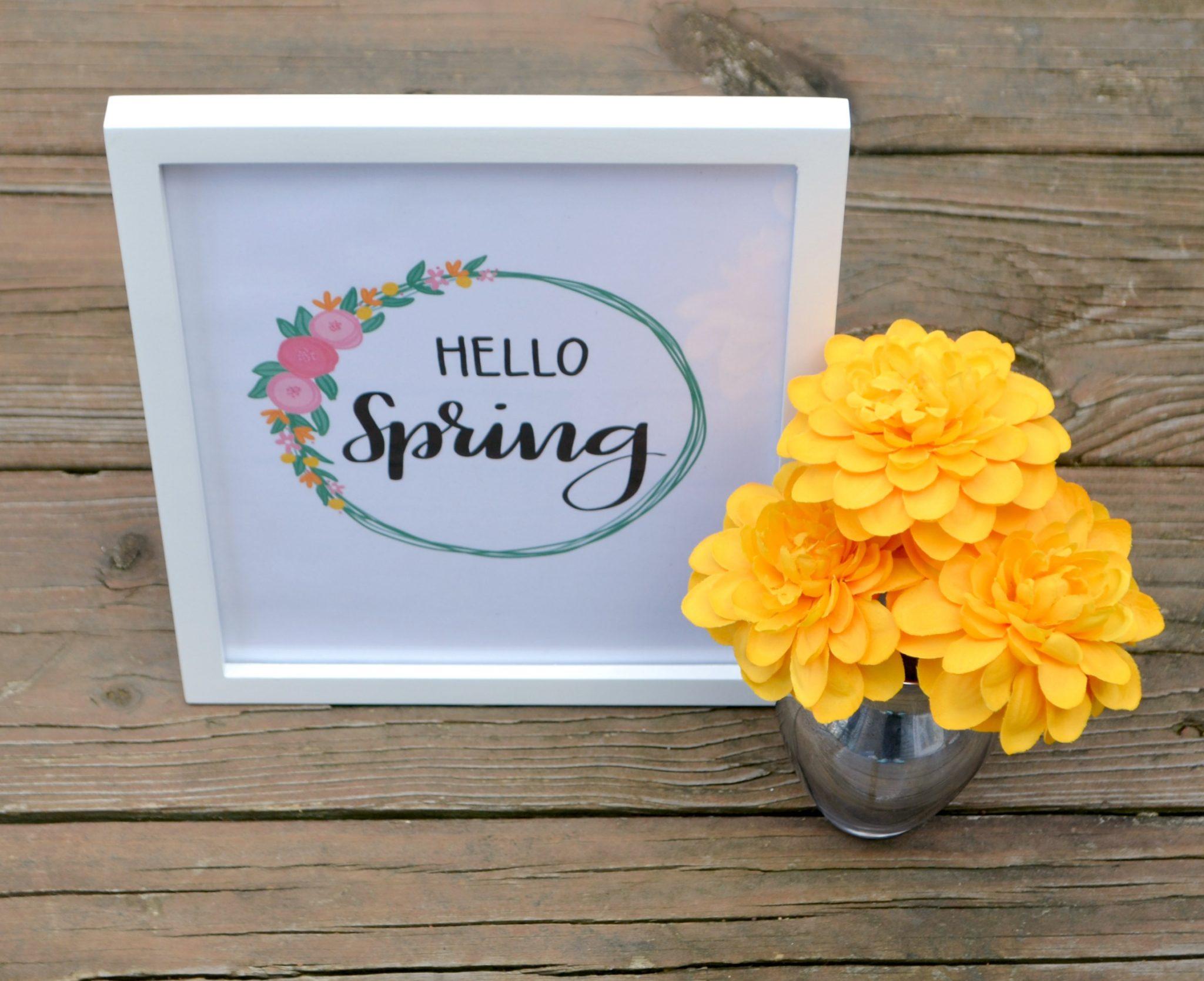 Hand Lettered Printable for Spring