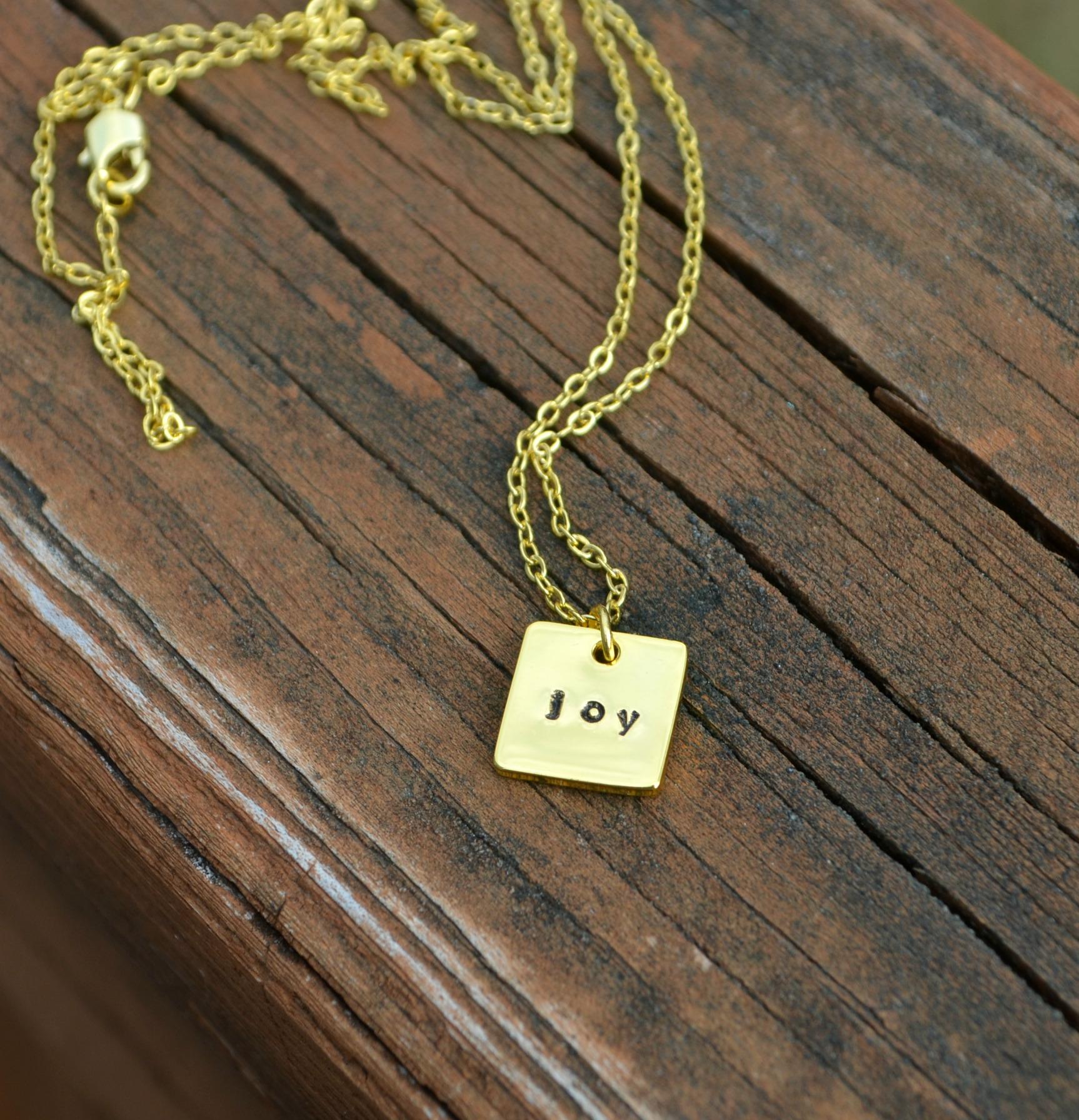 Tiny Stamped Pendant