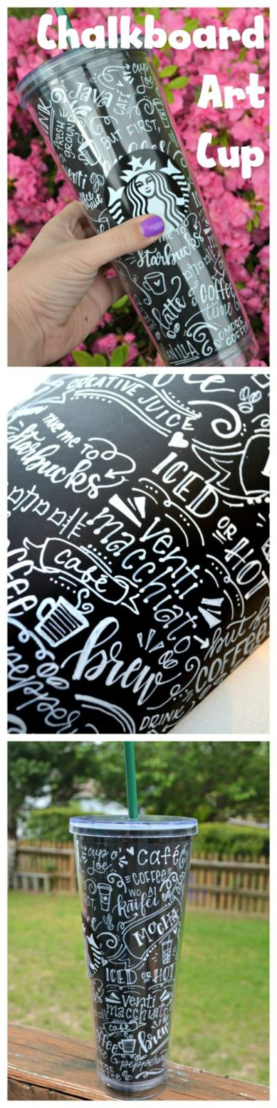 Chalkboard Art Coffee Cup