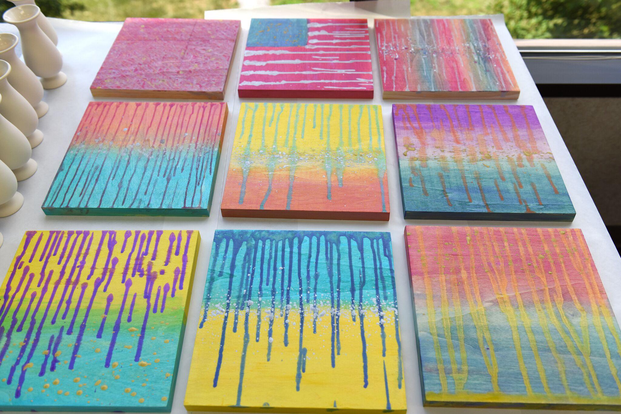 Ombre Color Shift Drip Art