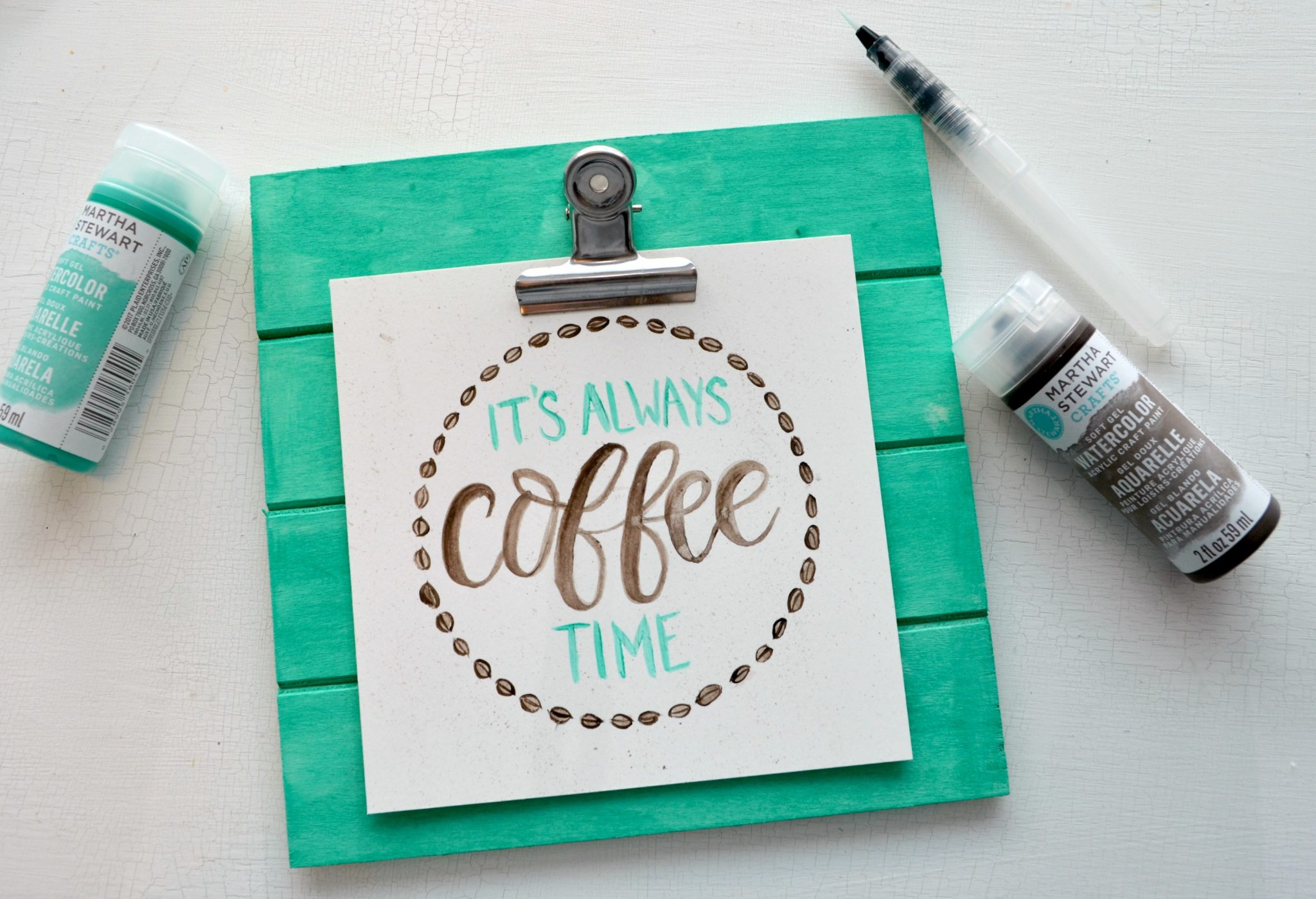 Hand Lettered Watercolor Art