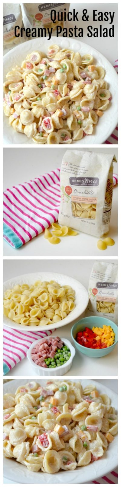 Quick & Easy Creamy Pasta Salad