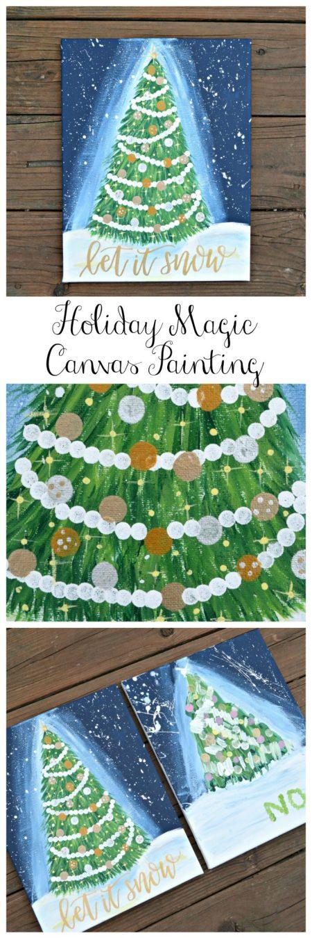 Holiday Magic Canvas Painting