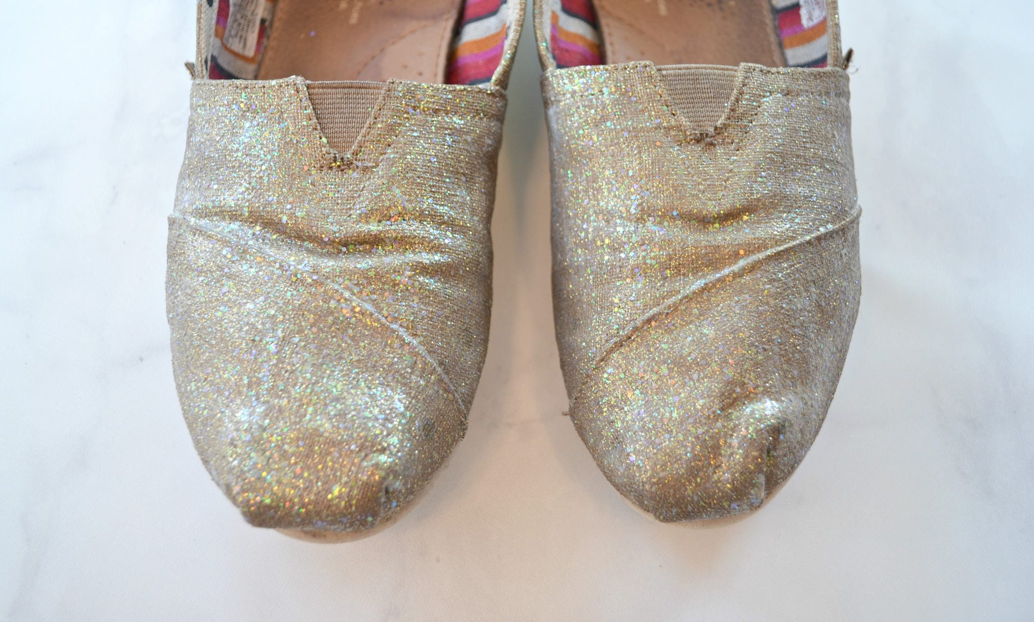 DIY Glittered Shoes