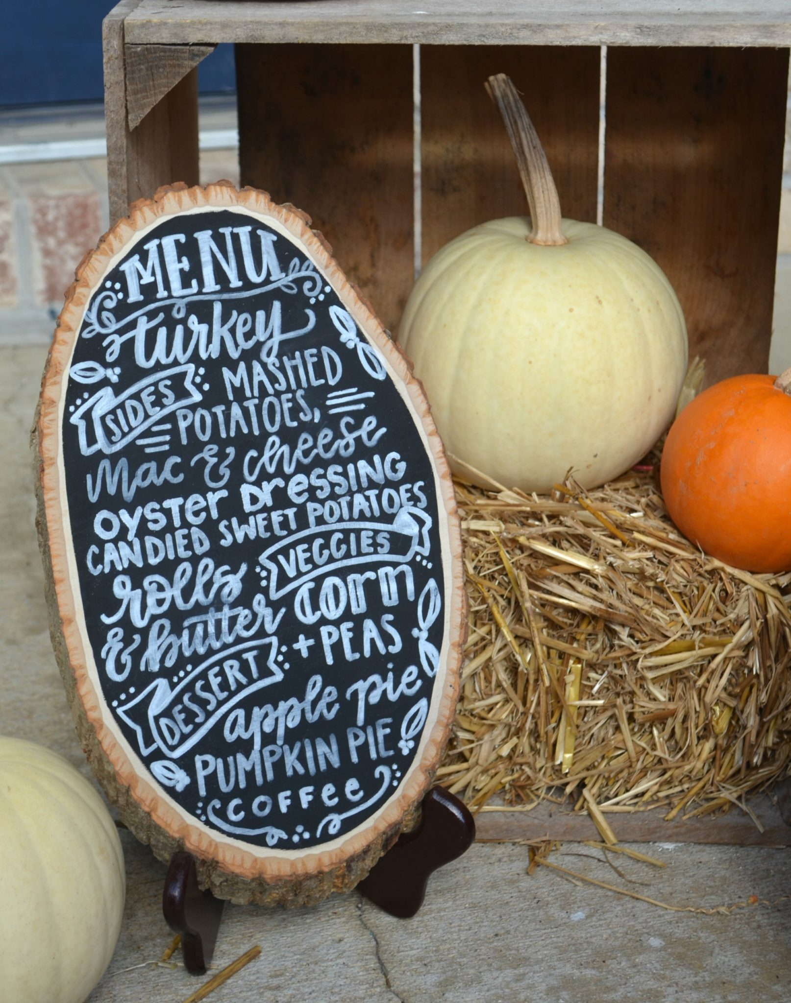 Farmhouse Style Hand Lettered Menu Board