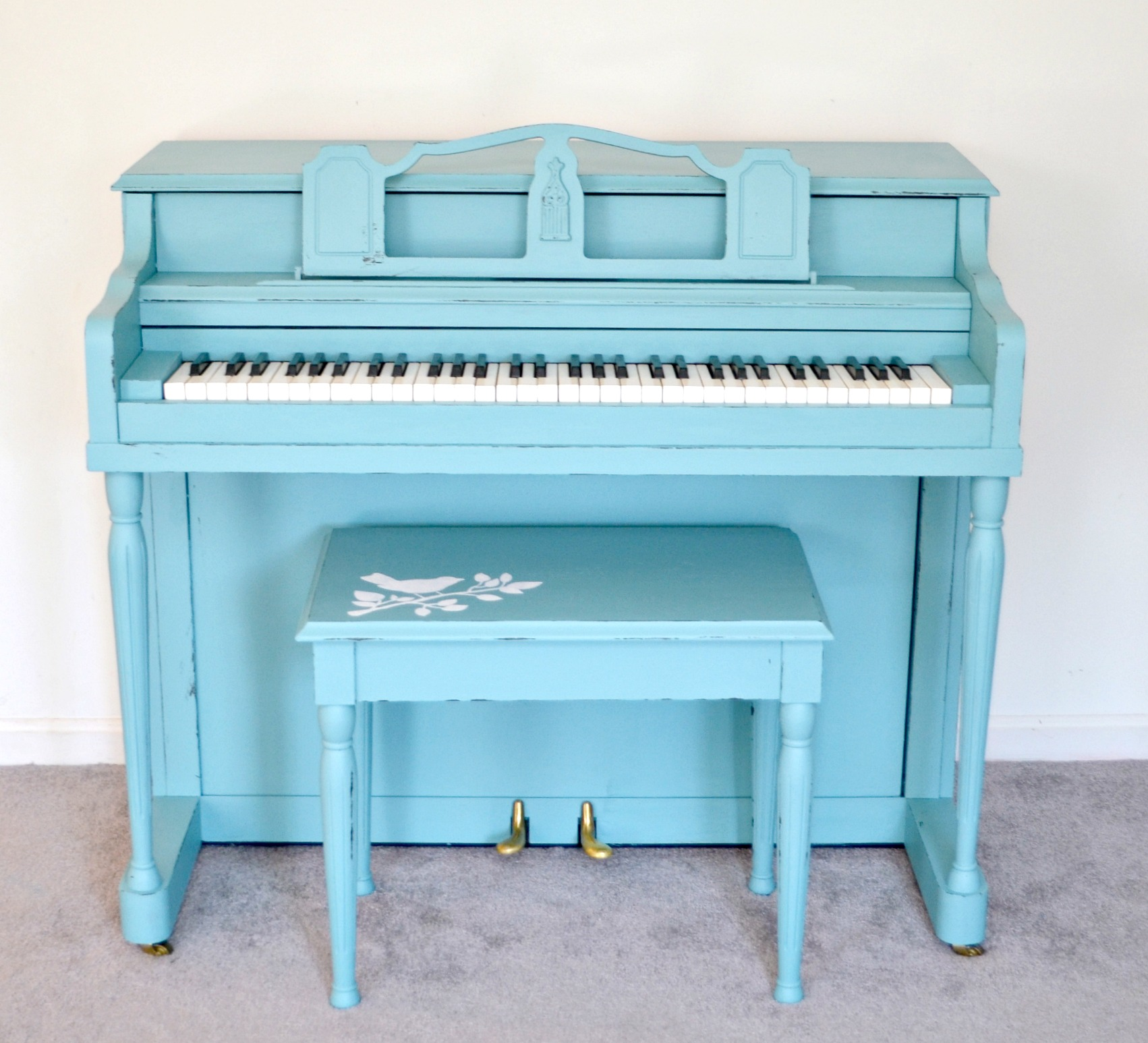 Painted Turquoise Piano