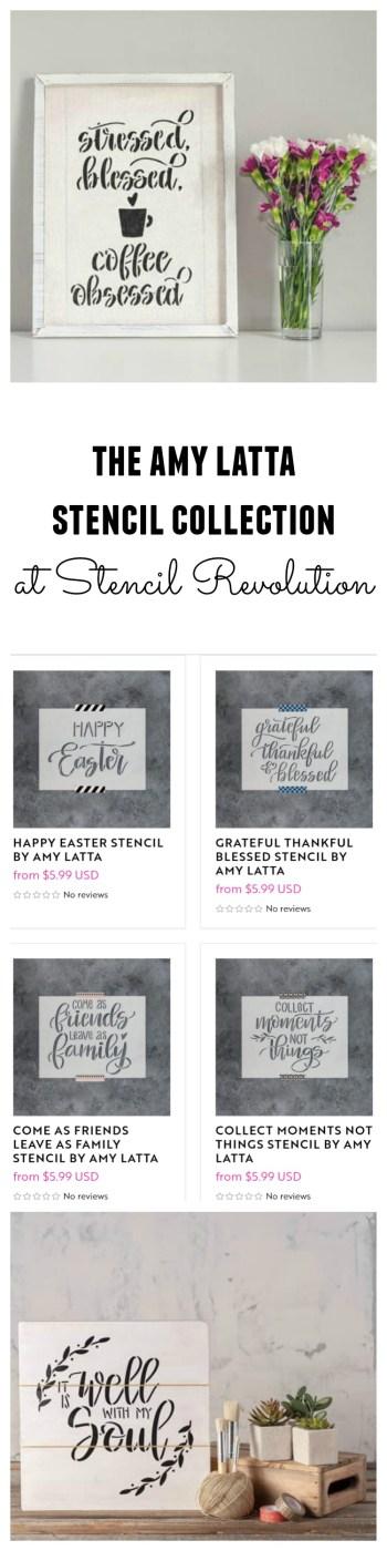The Amy Latta Stencil Collection at Stencil Revolution