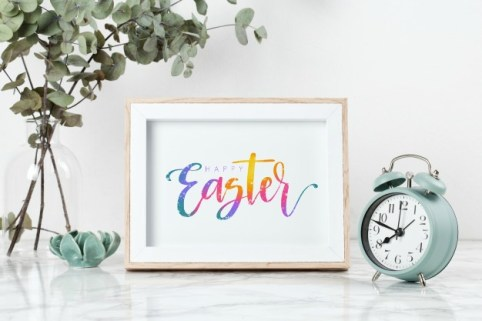 Free Hand Lettered Easter Printables
