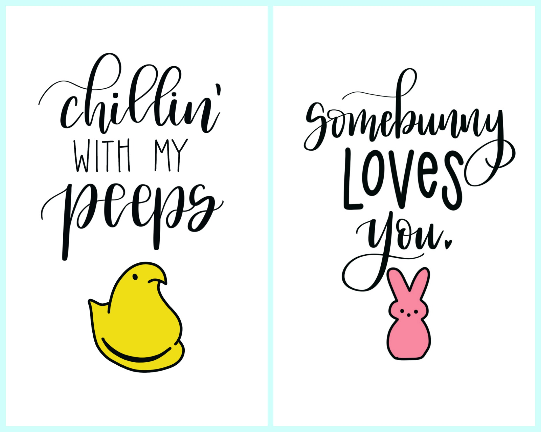 Free Hand Lettered Spring Printables