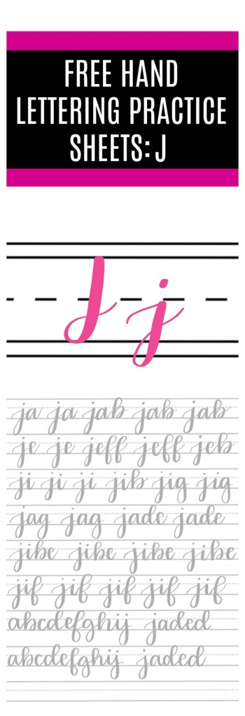 Brush Script J Practice Sheets