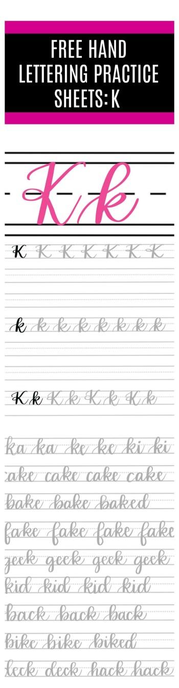 Brush Script K Practice