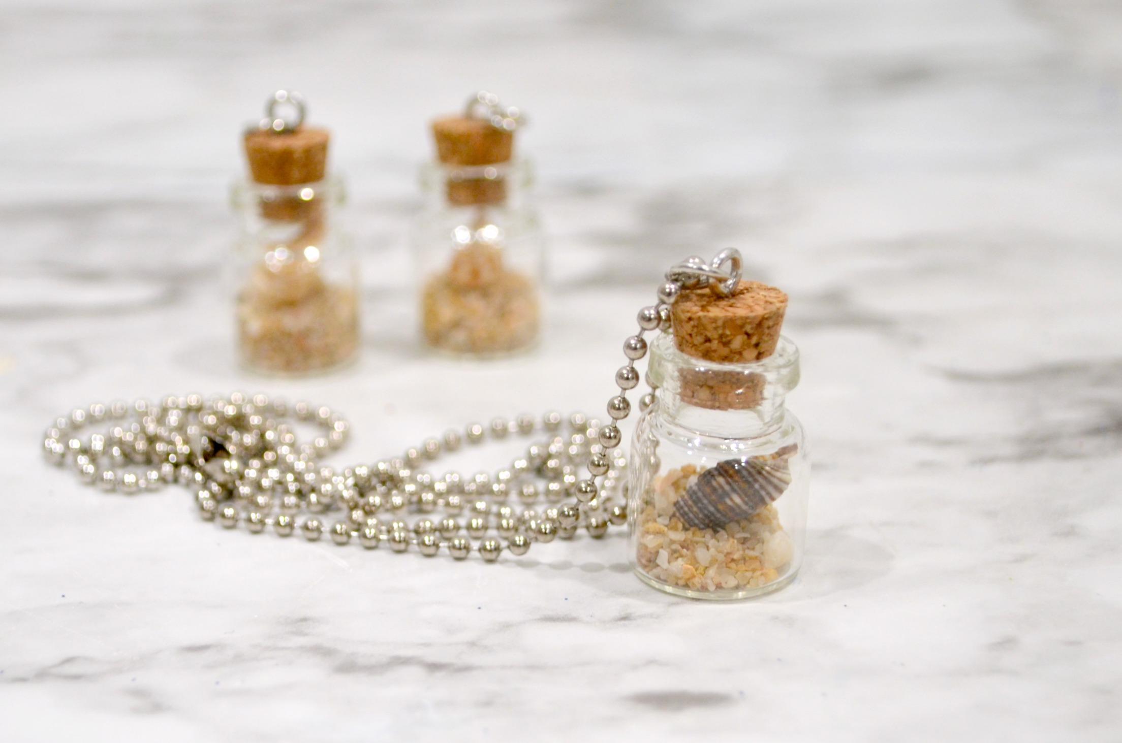 Beach in a Bottle Seashell Necklace