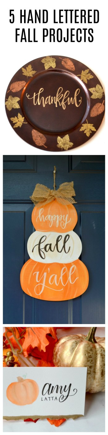 Hand Lettered Fall Projects