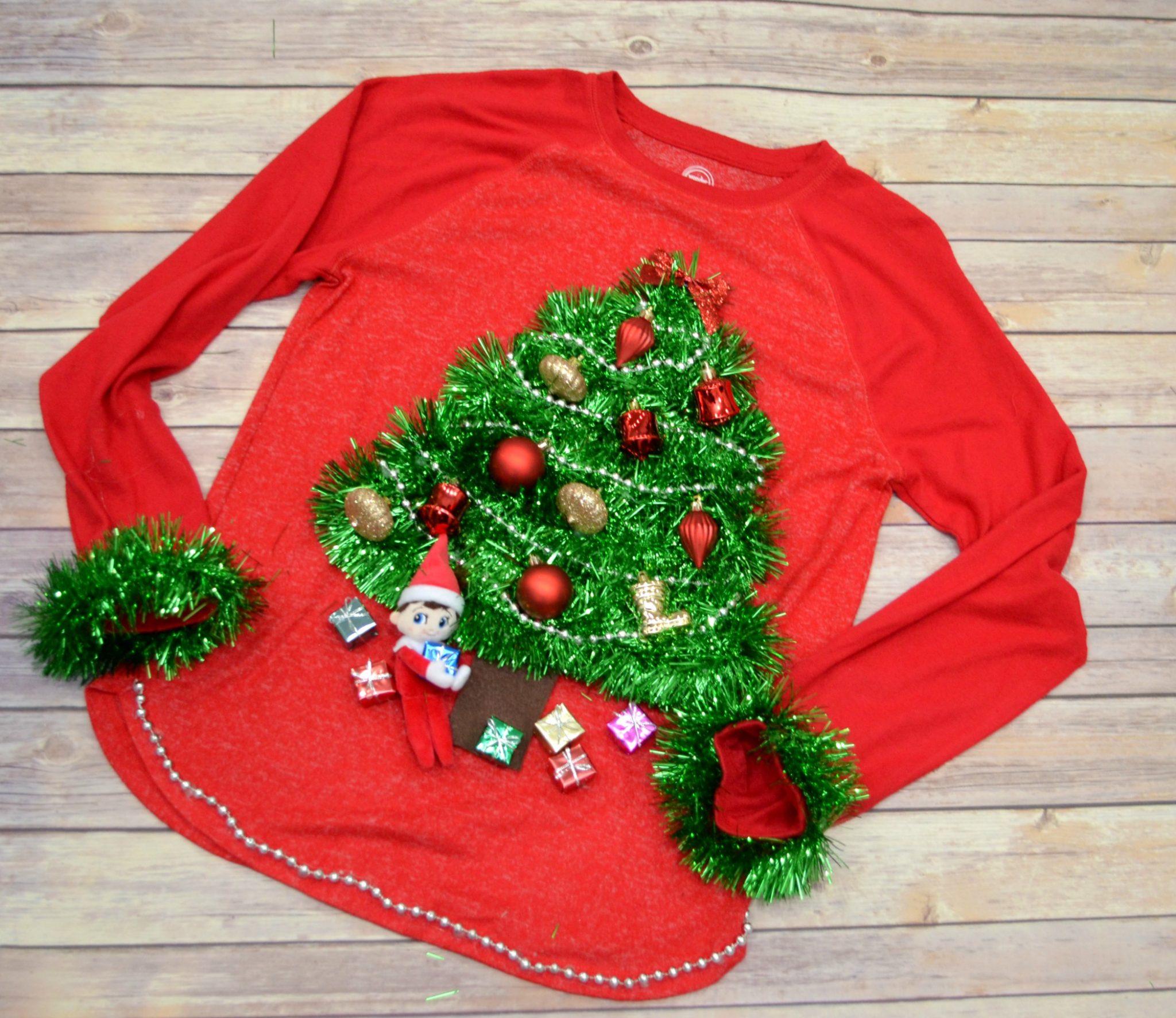 Diy Christmas Tree Sweater: DIY Ugly Sweater: O Christmas Tree