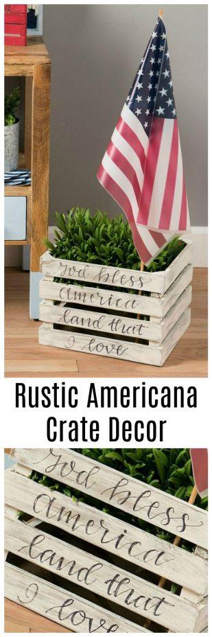 Rustic Americana Crate Decor