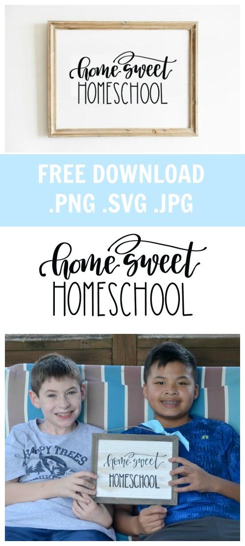 Home Sweet Homeschool: Free Download PNG, SVG, JPG