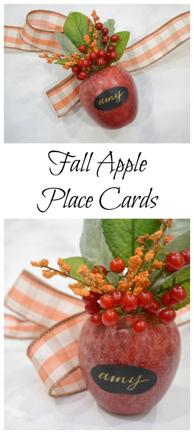 Fall Apple Place Cards