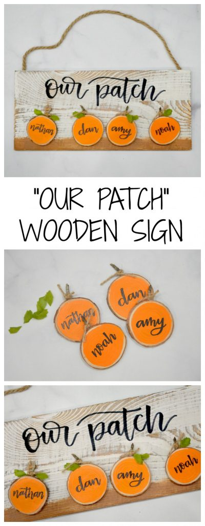 Our Patch Fall Pumpkin Sign