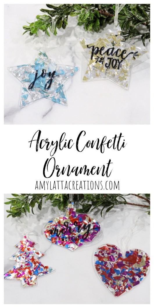 Acrylic Confetti Ornament
