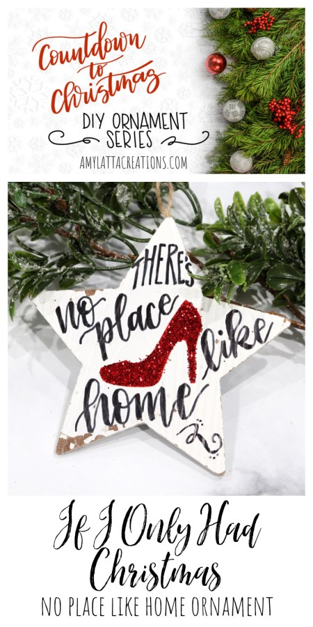 No Place Like Home Ruby Slippers Ornament