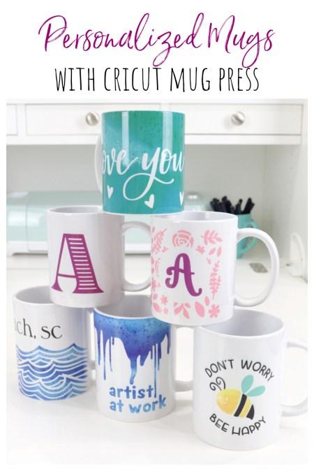 Personalized Mugs with Cricut Mug Press
