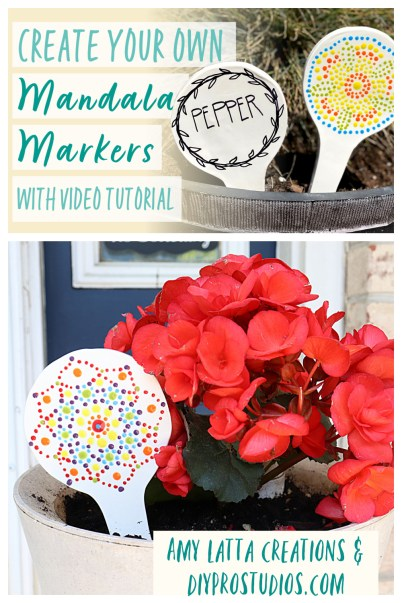 DIY Mandala Garden Markers