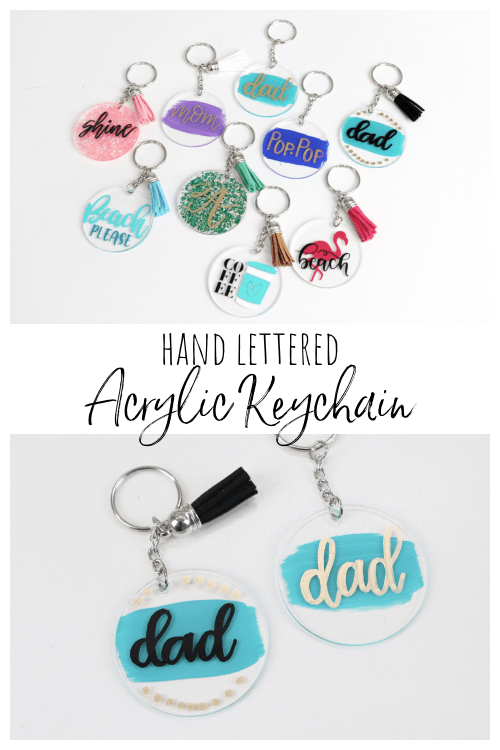 Hand Lettered Acrylic Keychains
