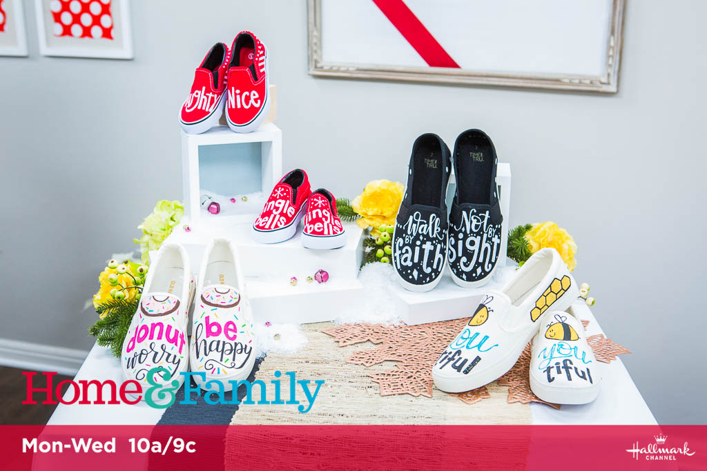 Hand Lettered Shoes