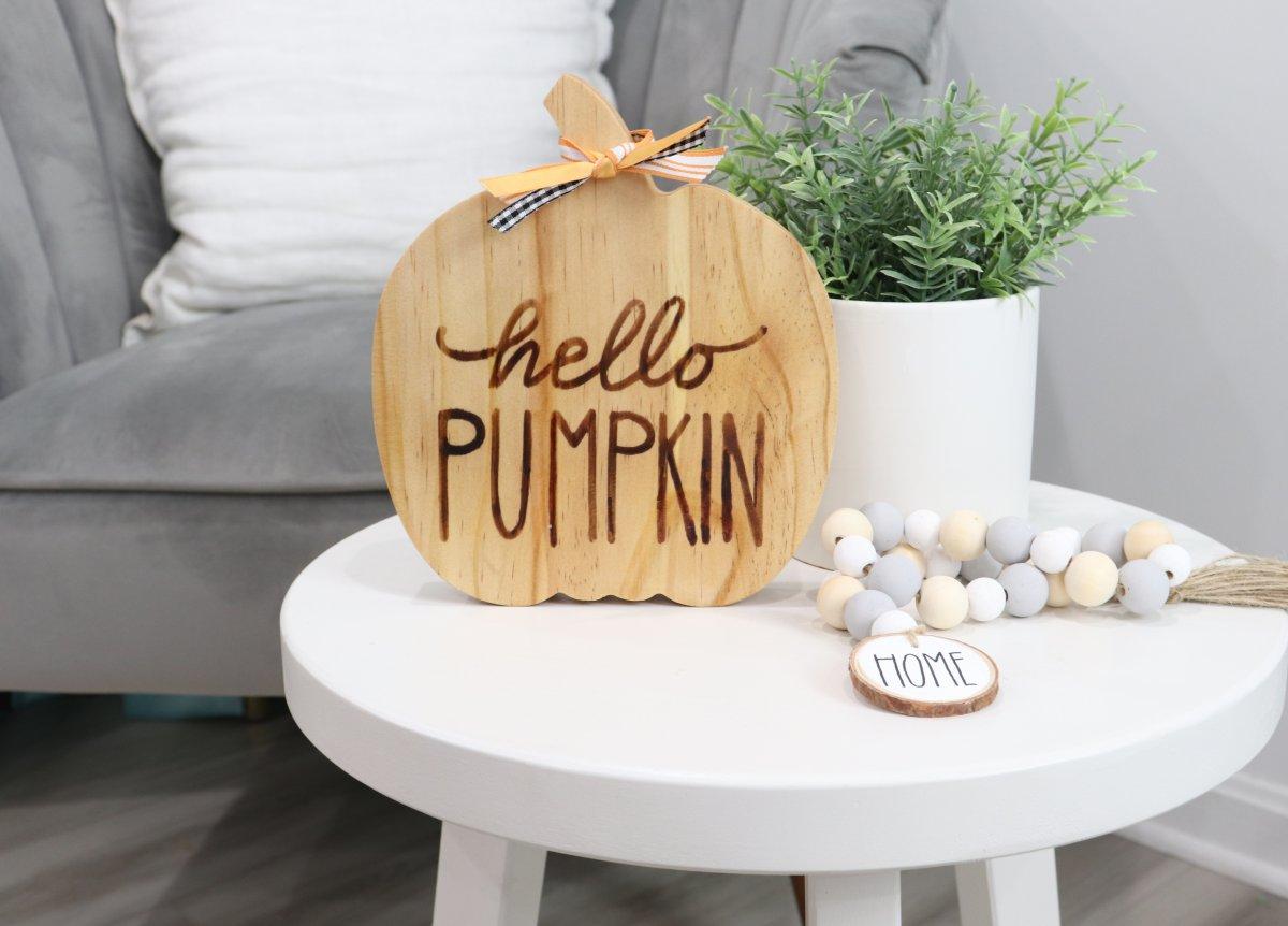 Reversible Pumpkin Decor