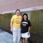 Two Bona grads celebrating strong women in Seneca Falls.