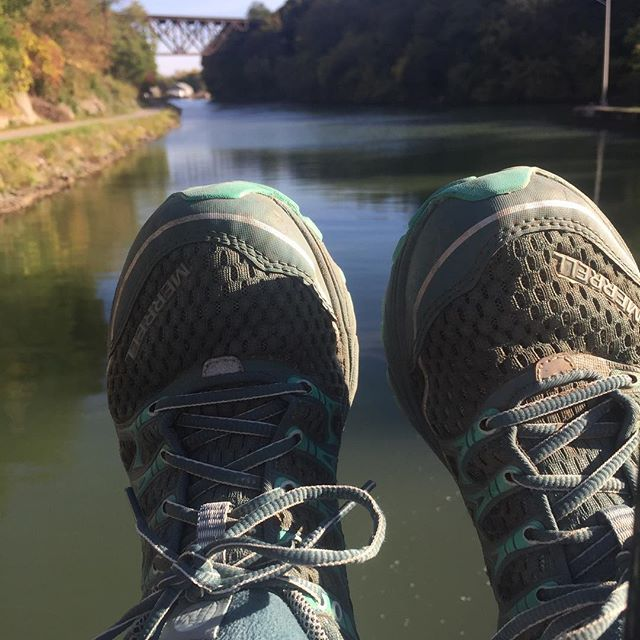 True story: I wore my running clothes to church so I could out for 3 miles on the Erie Canal after Mass. I added four Hill repeats for good measure. (And maybe some penance as well.) #running #SundayMorning