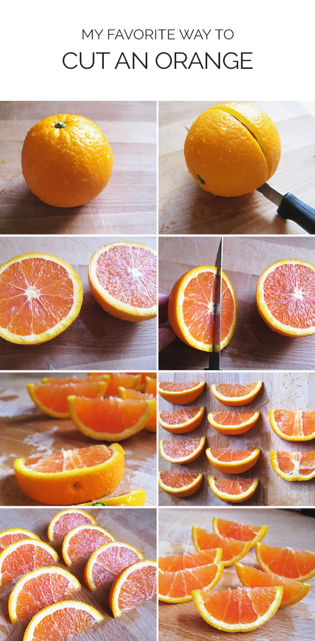 Step by Step How to Cut An Orange