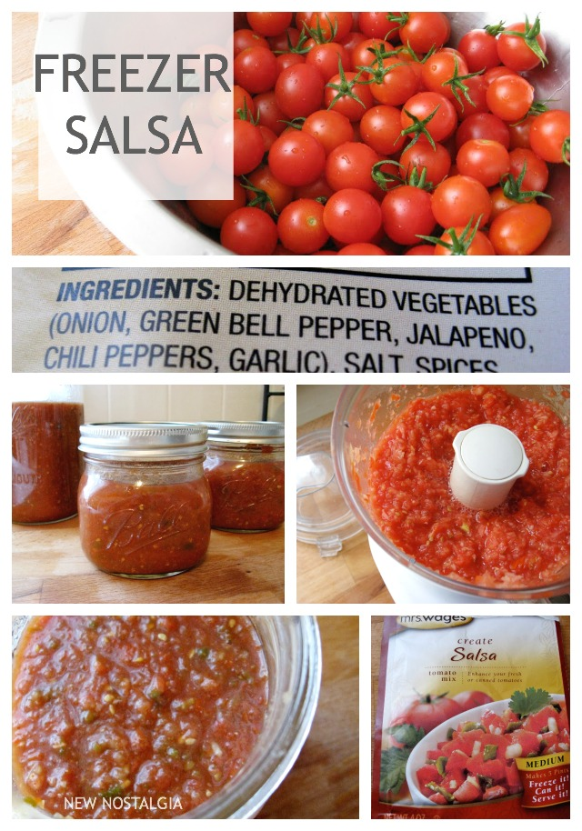 tomatoes and freezer salsa in jars