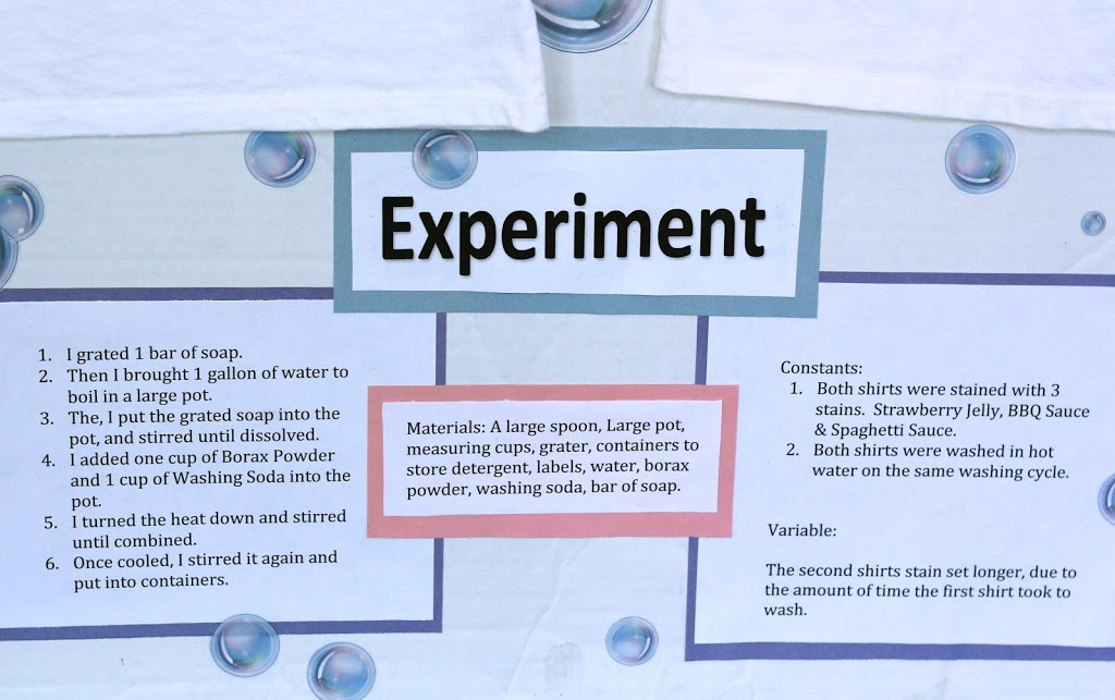 My Daughter S Homemade Laundry Detergent Science Project