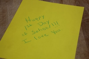 Happy First Day Of School Envelope Note