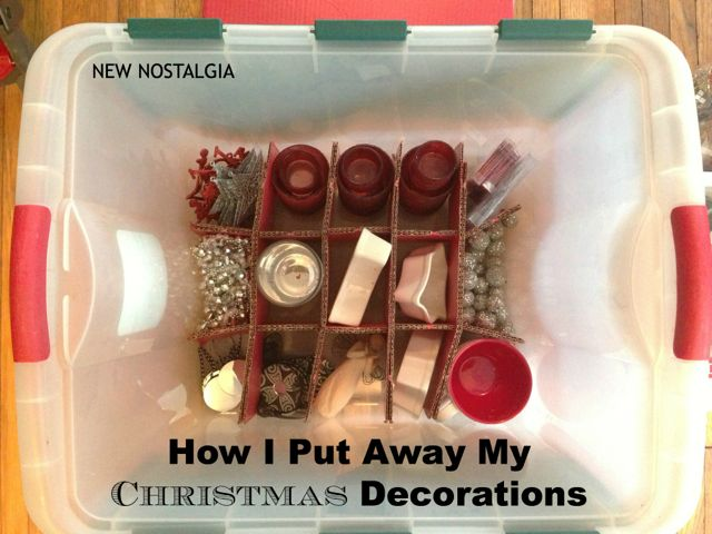 Putting away Christmas Decorations